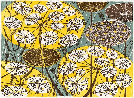 angie lewin-英國女藝術家,(油畫.版畫.雕刻)靈感來自於,植物和地方特色, 綠籬和花園-連同素描,和拼貼(第一輯)。。。 - ☆平平.淡淡.也是真☆  - ☆☆milk 平平。淡淡。也是真 ☆☆