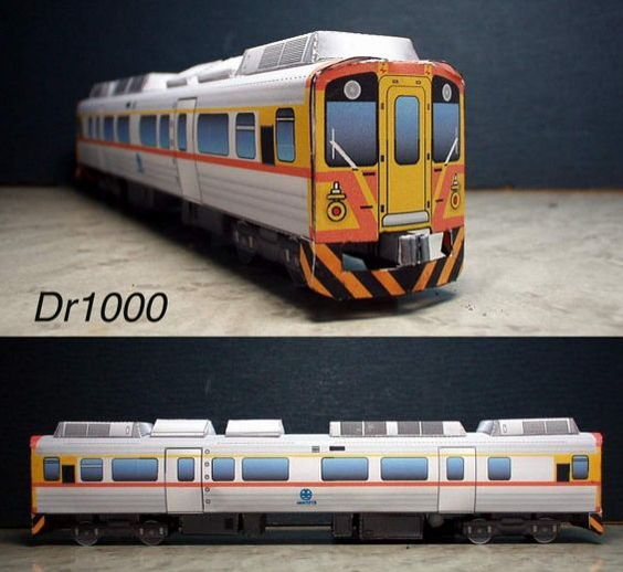 Taiwan Dr1000 Train Free Paper Model Download - http://www.papercraftsquare.com/taiwan-dr1000-train-free-paper-model-download.html#Dr1000, #Railroad, #Railway, #Train