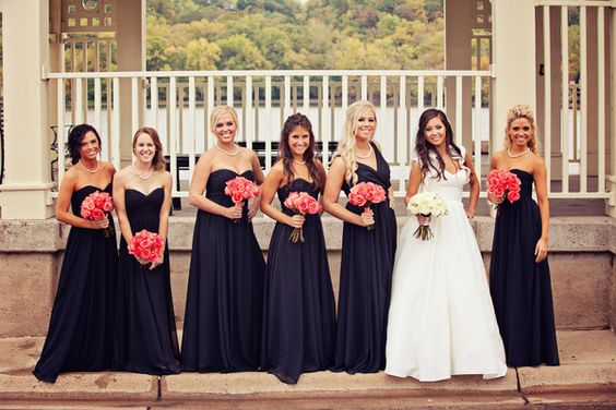 Fall wedding navy and blue bridesmaid dresses on pinterest for Navy dress for fall wedding