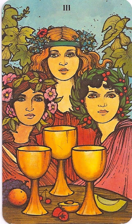 Morgan-Greer Tarot Three of Cups