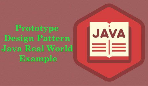 Prototype Design Pattern Java Real World Example Design Pattern