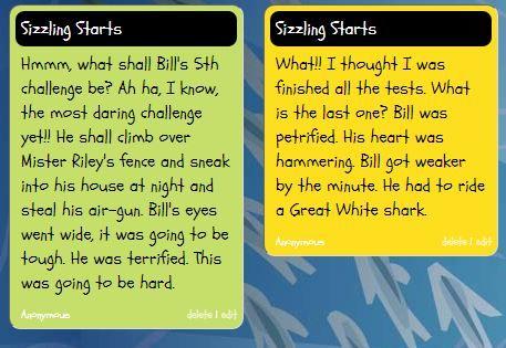 NARRATIVE WRITING: SIZZLING STARTS AND BACKFILL