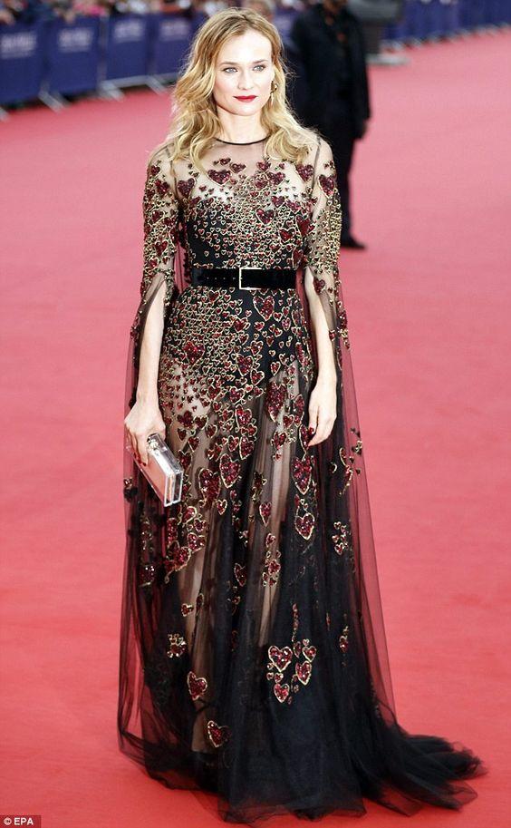 Diane Kruger in Elie Saab attended the41st Deauville American Film Festival on September 2, 2016
