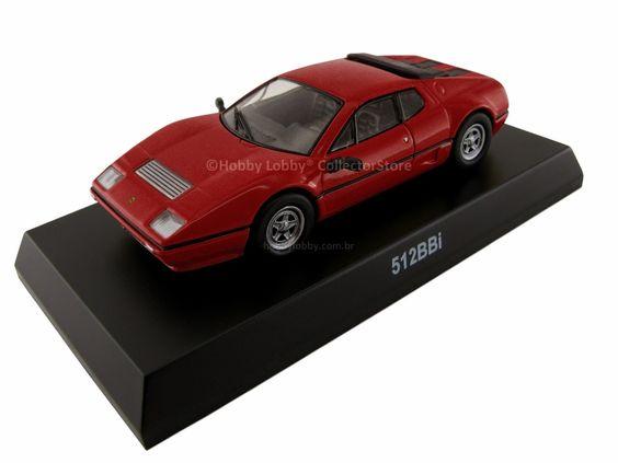 KYOSHO - FERRARI MINICAR COLLECTION Modelo: FERRARI 512 BBi Série: Ferrari Minicar Collection VI Escala: 1:64