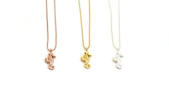 seahorse necklace. various colors. – Mr. Kate #MrKate #SpringStyle
