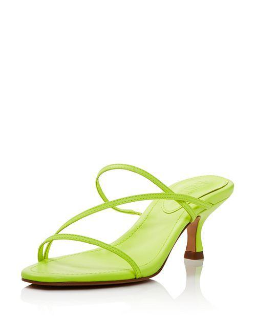 Schutz Women S Evenise Neon Kitten Heel Sandals Sandals Heels Kitten Heel Sandals