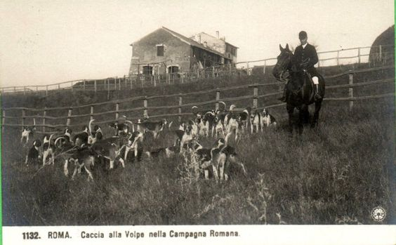 Foto storiche di Roma - Caccia alla volpe nella campagna romana