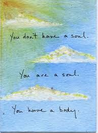 you are a soul. C.S. Lewis