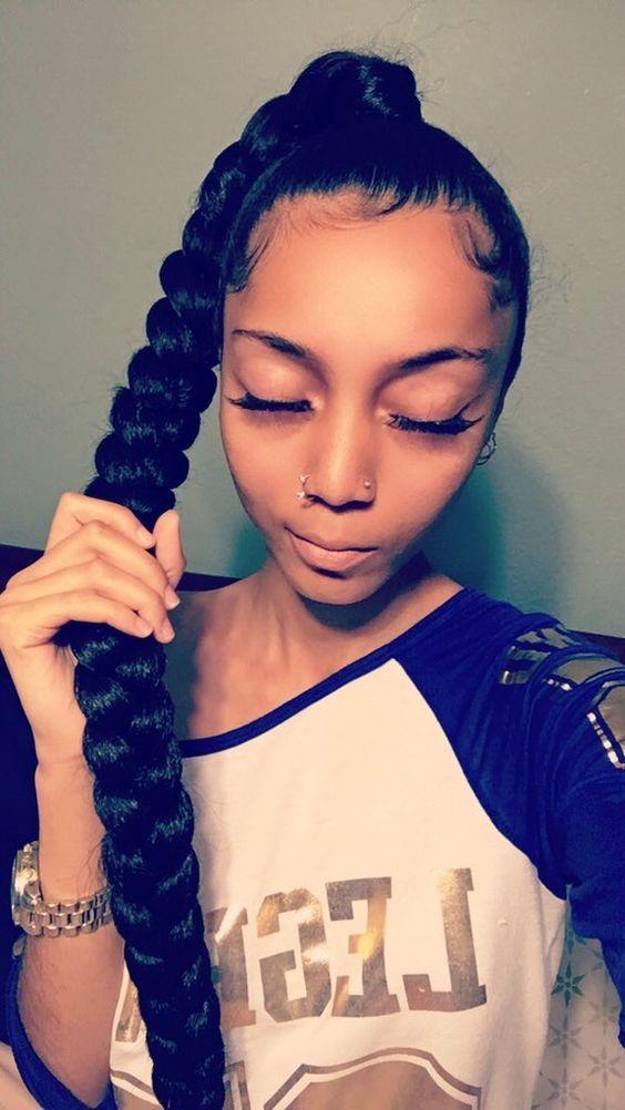 Epochal Black Ponytail Hairstyles Get Ready For 2018 Black Ponytail Hairstyles Natural Hair Styles Curly Hair Styles