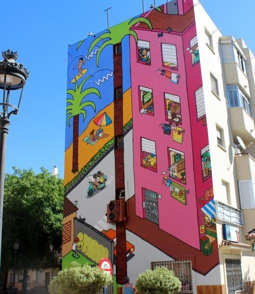 Mural de Jos  Fern ndez R os Ruta de Murales Art sticos de Estepona    Spanish Street Art   Pinterest   Jose fernandez  Murales y R os. Mural de Jos  Fern ndez R os Ruta de Murales Art sticos de