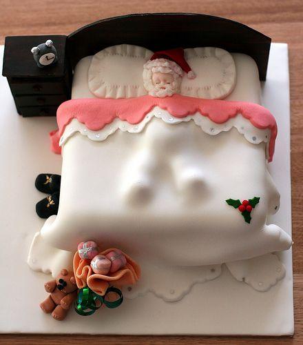 **Cake.....Santa asleep, how cute is this?
