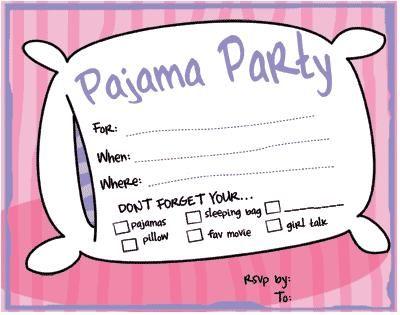 Free Sleepover Invitations as awesome invitations ideas