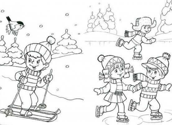 Kleurplaat Winter Wintersport Winter Sport Coloring Pages Coloring Pages Sports Coloring Pages Winter Crafts For Kids