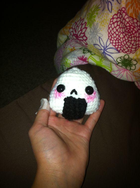 My onigiri. Crochet Japanese rice ball.