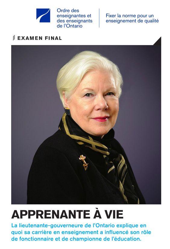 Elizabeth Dowdeswell : la lieutenante-gouverneure de l'Ontario explique en quoi sa carrière en enseignement a influencé son rôle de fonctionnaire et de championne de l'éducation.