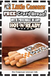 How to use a Little Caesars coupon Little Caesars already offers pizza at low prices, but this hasn't stopped them from offering a large list of printable coupons to their customers. Simply visiting Little Caesar's homepage can bring up a coupon for items such as free breadsticks.