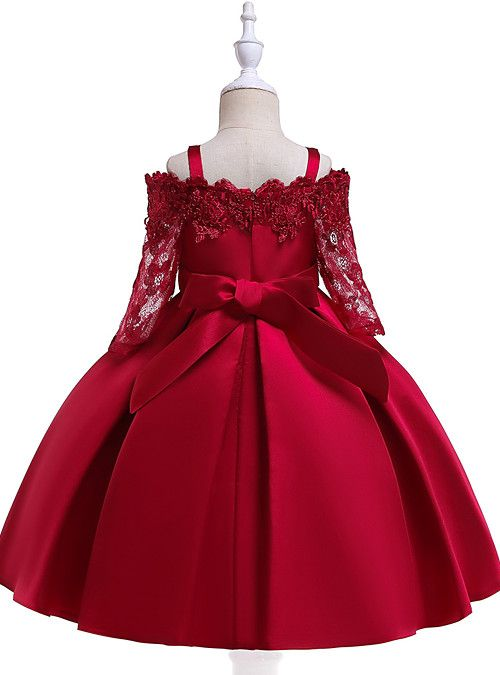 Kids Girls' Active Sweet Party Holiday Solid Colored Christmas Half Sleeve  Knee-length Dress Wine 2021 - US $24.19   African dresses for kids, Red  dresses for kids, Dresses kids girl