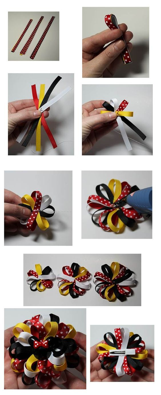 Loopy Flower Hair Bow Tutorial Mikey: