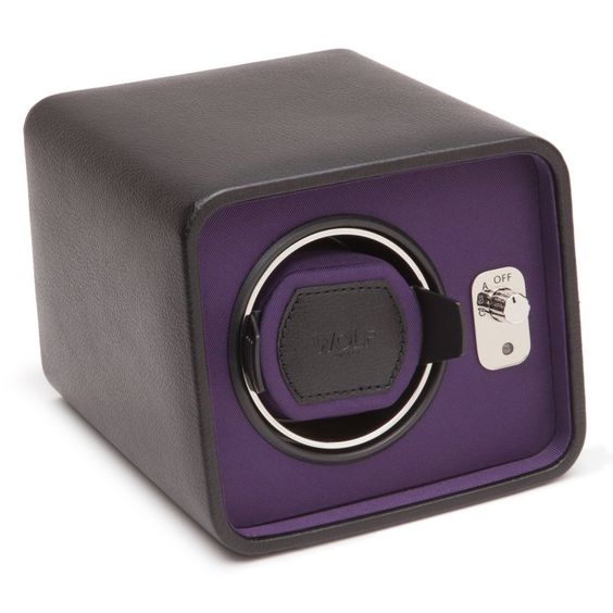 WOLF Windsor Single Watch Winder Black/Purple