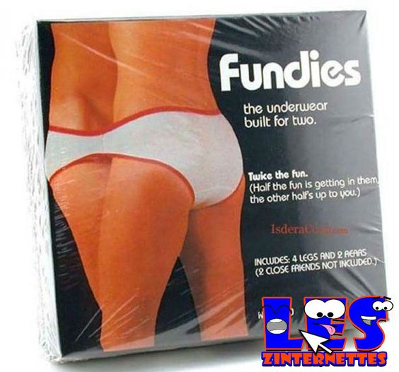 """""""fundies""""..undies for two! why  not?!"""