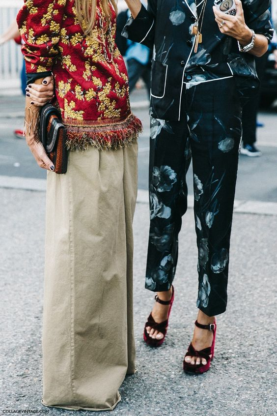 pajama dressing, Anna Dello Russo and Sarah Ruston, Milan Fashion Week, Spring-Summer 2016