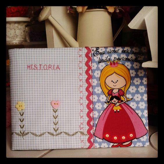 Capa de caderno Princesinha