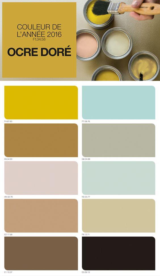 couleur de l 39 ann e 2016 ocre dor d co couleurs pinterest pastel inspiration et comment. Black Bedroom Furniture Sets. Home Design Ideas