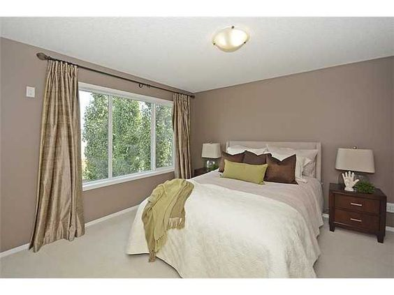 Bedroom With The Same Color Palette The Mocha Wall Paint