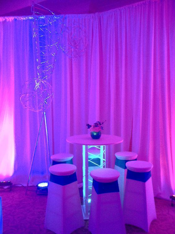 Bat Mitzvah Event Decor Turquoise & Purple Color Scheme Party Perfect Boca Raton, FL 1(561)994-8833