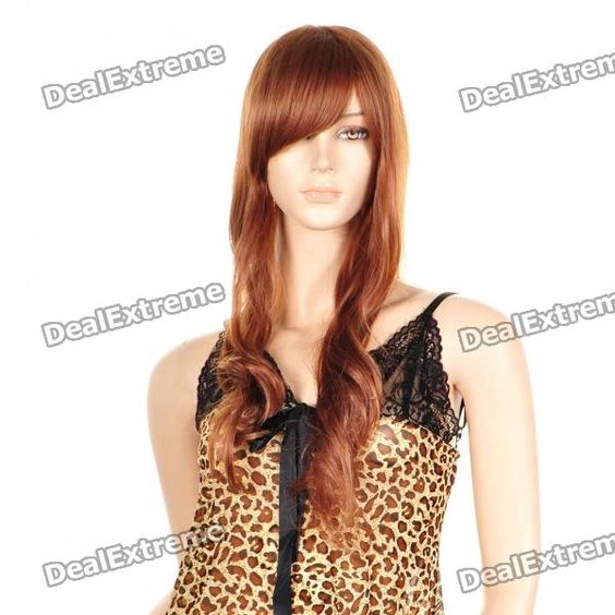 Fashion Long Curly Hair Wigs - Gold Yellow