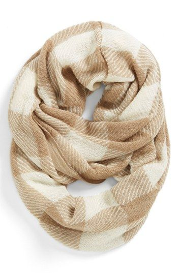 Tildon Plaid Infinity Scarf Womens Camel Pretty Things