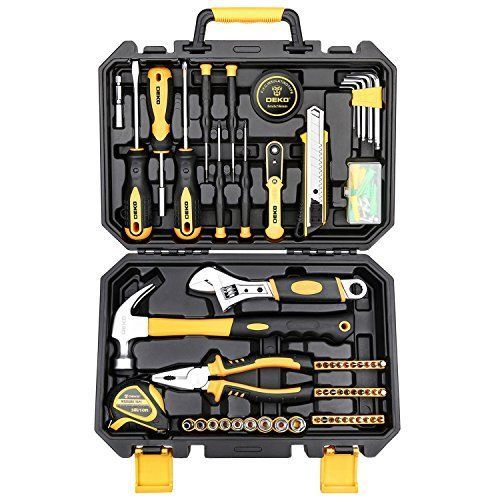 Deko 100 Pcs Hand Tool Set General Household Kit With Wrench And