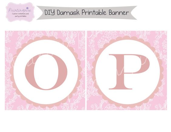 DIY Printable Baptism or Christening Banner  by Printinspire