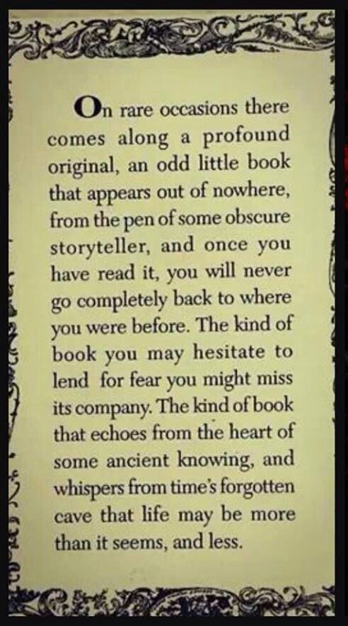 The kind of book that changes you...