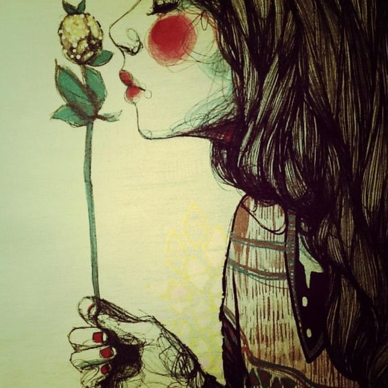 A dreamworld with a  flower.