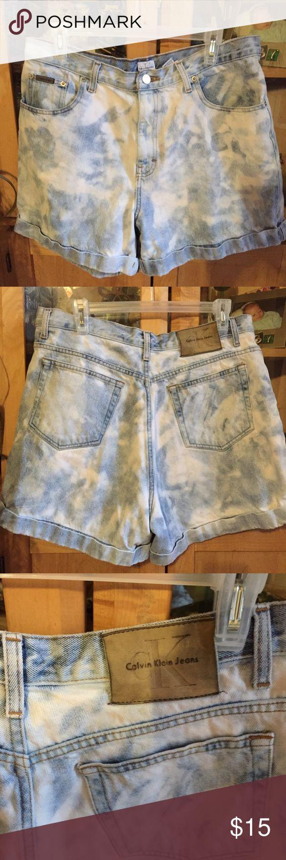 Vintage Calvin Klein jeans shorts Great condition.  Vintage Calvin Klein double stone wash denim shorts. Calvin Klein Jeans Shorts Jean Shorts