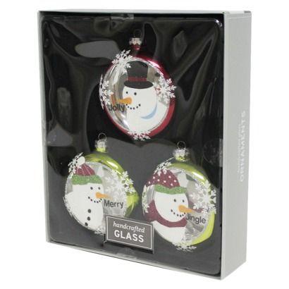 3-Piece Snowman Ornament Set