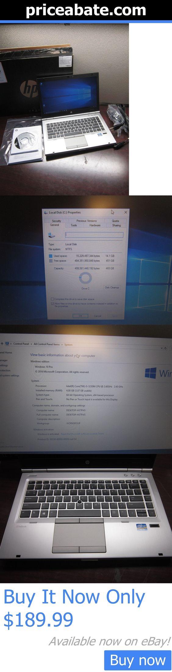 general for sale: Hp Elitebook 8470P 14 Laptop Intel Core I5 3Rd Gen 2.6Ghz 4Gb Ram 500Gb Hdd W10 BUY IT NOW ONLY: $189.99 #priceabategeneralforsale OR #priceabate