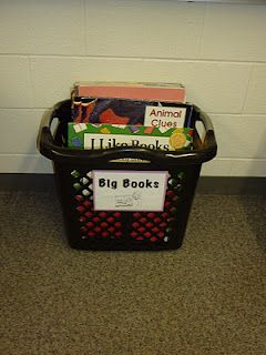 Big Book Storage - My students don't tear up the books trying to get them out like they did in the easel. They are more accessible for my students!