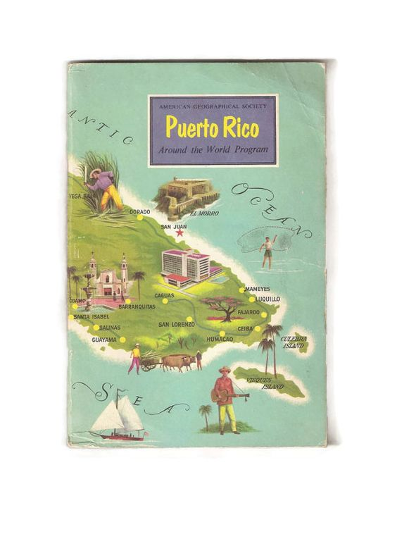 Vintage Book of Puerto Rico Florida History and by EclecticEmbrace