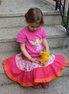 Twirly Whirly Reversible Tiered Skirt Tutorial by sew me a fumberlant