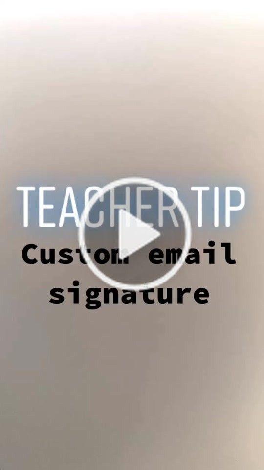 Mrs Kreft Mrs Kreft On Tiktok Technology Tip Custom Email Signatures Teachertip Teacherhack Technologytips Teacher Hacks Teacher Life Email Signatures