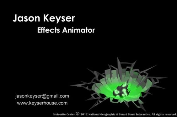 Jason Keyser 2014 effects animation reel.