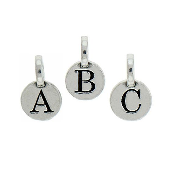 1 Set of all 26 Letters A to Z - Round Initial Charm 9mm Letter A to Z - Ships from Texas - SPRSET