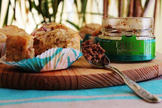 Cozinhadaduxa: Muffins de Salpicão e Azeitonas