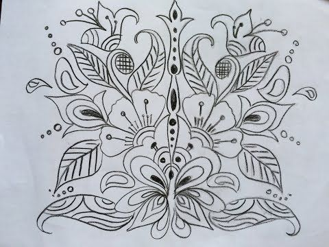7 Free Hand Design Draw And Trace Mirror Image Youtube Free Hand Designs Drawing Free Hand Designs Mirror Image