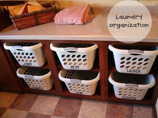 Laundry Ideas ~ The Letter Cafe Vinyl Lettering