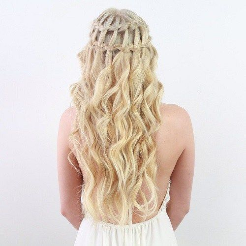 double+waterfall+braid+half+updo+for+blonde+hair