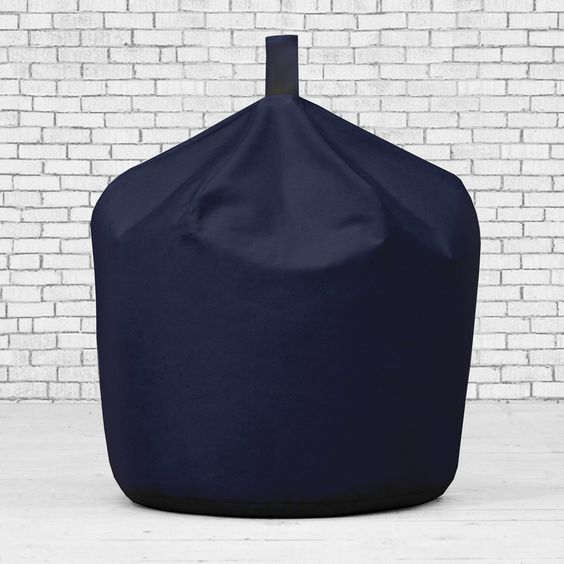 Navy Blue 100% Cotton Drill Gaming Seat Chair XL Extra Large Classic Bean Bag…
