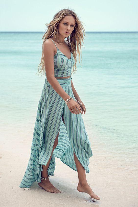 Spell Island Boho wrap skirt #soleilblue